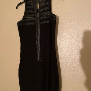 BEBE Bodycon Black Cocktail Dress- Worn Once!